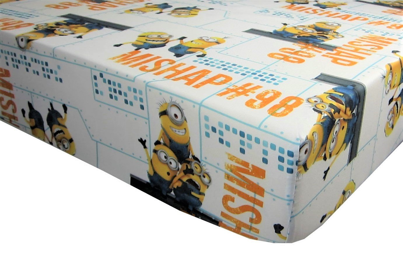 Minions Made Mishap 100% Polyester (FITTED SHEET ONLY) Size TODDLER Boys Girls Kids Bedding