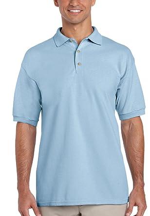 Gildan - Polo - Hombre Azul Azul Claro M: Amazon.es: Ropa y accesorios