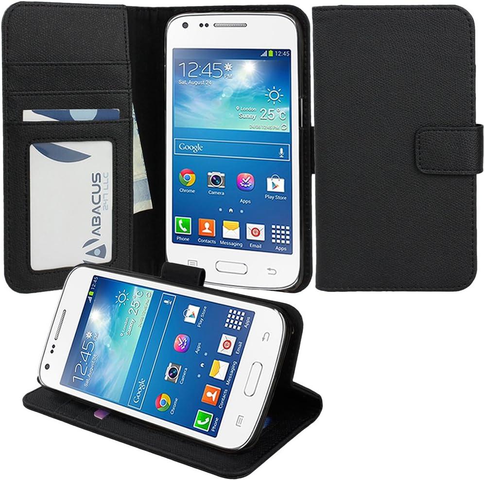 Abacus 24-7® Samsung Galaxy Core Plus G350 2L Funda flip/ Funda de cuerina con cierre magnético y función de soporte, Negro: Amazon.es: Electrónica