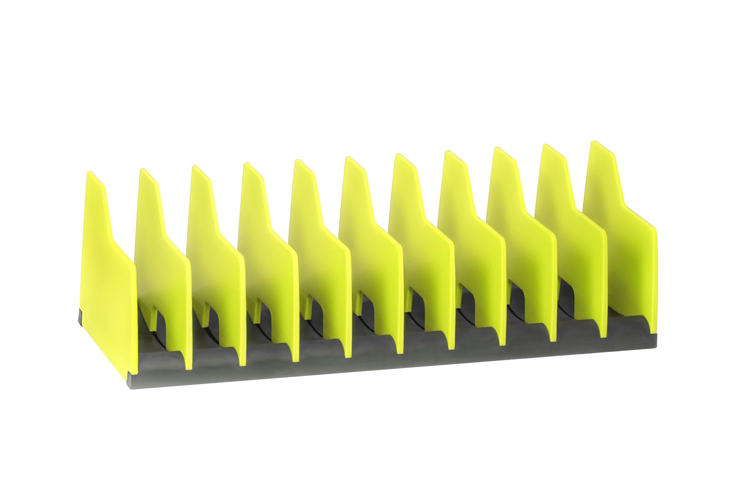 Ernst Manufacturing No-Slip Plier Pro Organizer, 10 Tool, High-Visibiliy