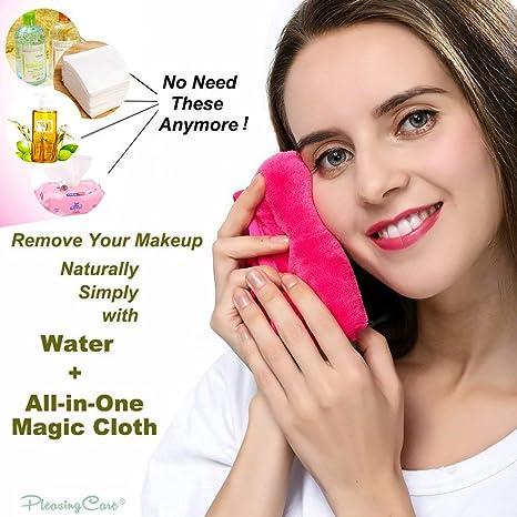 Toalla de limpieza facial reutilizable de microfibra suave para limpiar la piel sensible, sin productos químicos: Amazon.es: Belleza