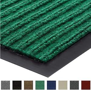 Gorilla Grip Original Low Profile Rubber Door Mat, 47x35, Heavy Duty, Durable Doormat for Indoor and Outdoor, Waterproof, Easy Clean, Home Rug Mats for Entry, Patio, High Traffic, Green