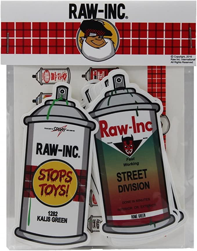 Raw Inc. Spray Can Sticker Pack: Amazon.es: Amazon.es