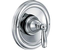 Moen T2151 Brantford Posi-Temp Pressure Balancing Traditional Tub and Shower Valve Trim Kit Valve Required, Chrome
