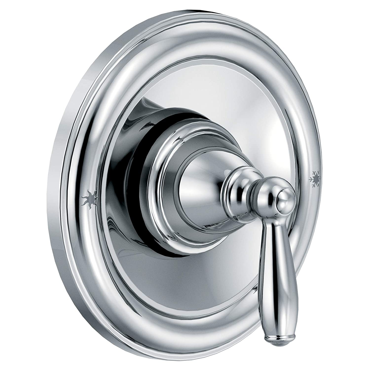 Moen T2151 Brantford Posi-Temp Pressure Balancing Traditional Tub and Shower Valve Trim Kit Valve Required, Chrome