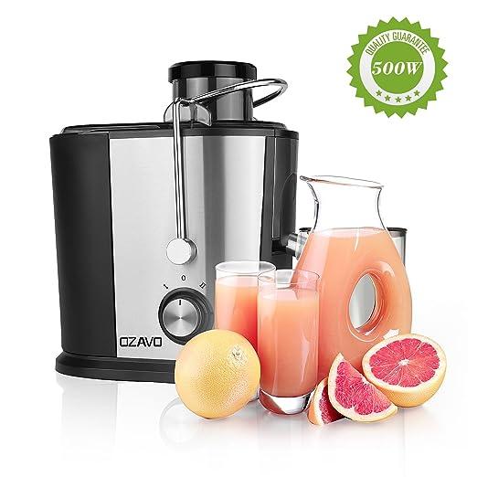 9 opinioni per OZAVO Smoothie Maker | Mixer | 500 Watt | In acciaio vetro | BPA-free Tritan