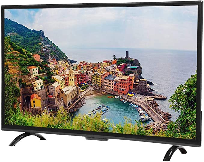 Televisor Inteligente Curvo de 32 Pulgadas de Alta definición con Pantalla Inteligente de televisión Inteligente, Compatible con la Antena WiFi USB ...