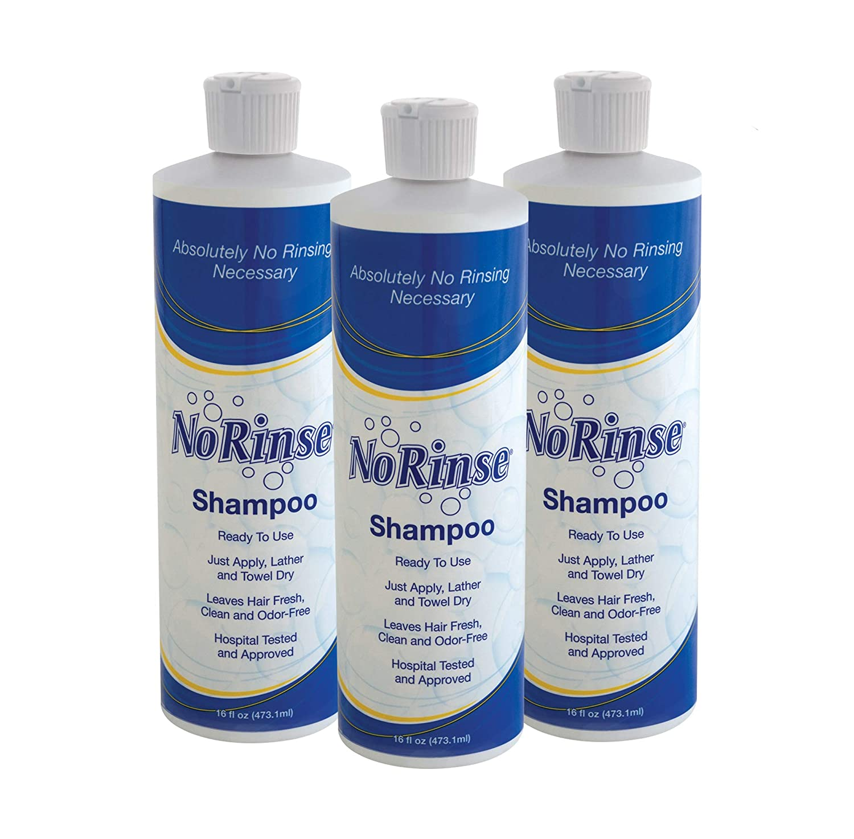 No-Rinse Shampoo, 16 fl oz - Leaves Hair Fresh, Clean and Odor-Free (Pack of 3)
