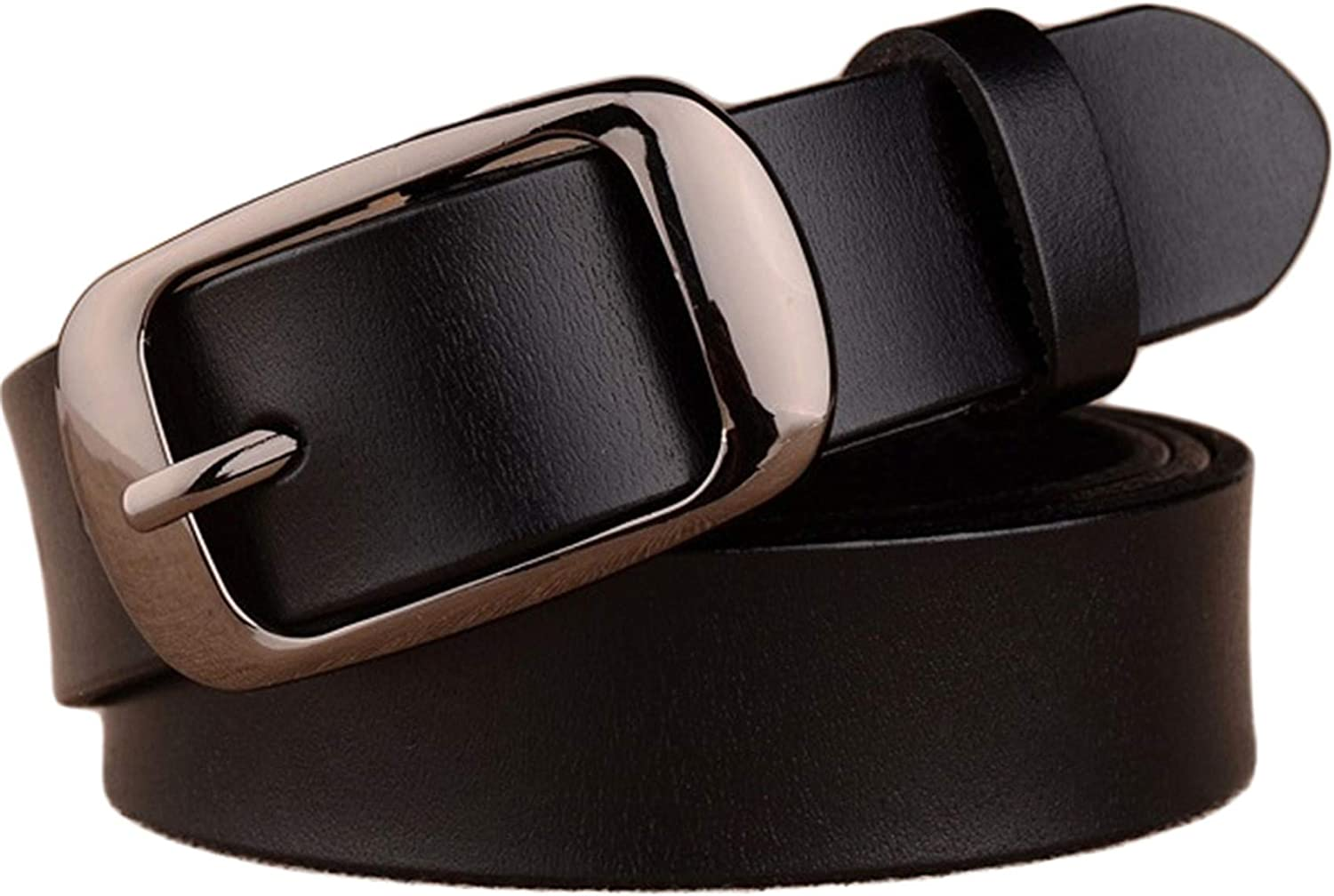 Women/'s Simple Fashion Real Leather Wide Waist Belt Pin Buckle Waistband