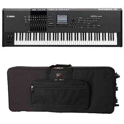 Amazon.com: Yamaha MOTIF XF8 88-Key Synthesizer Workstation STAGE KIT w/ Case: Musical Instruments