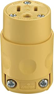 Leviton 515CV Commercial Grade Straight Blade Connectors, pack of 1, Yellow