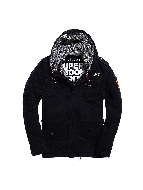 acb7b32bfa4357 Superdry M40003IR Jacket Man Black L: Amazon.co.uk: Clothing