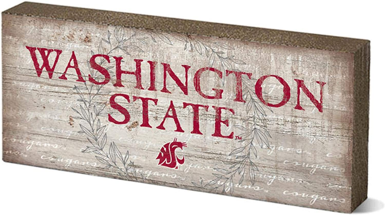 NCAA Legacy Washington State Cougars Mini Table Top Stick 2.5x6 Wood One Size