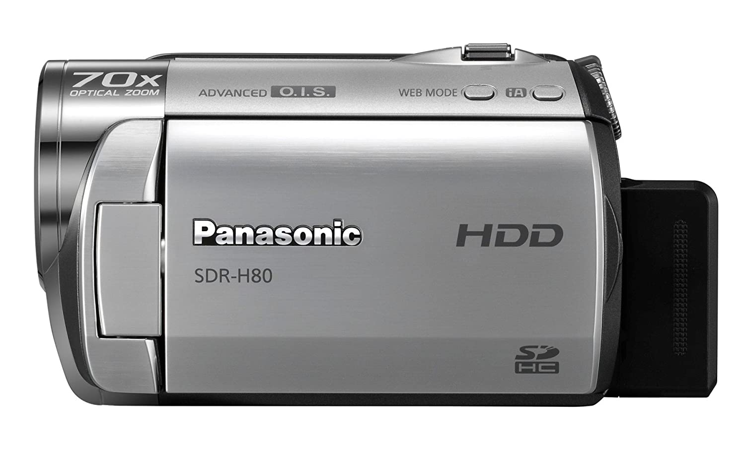 Amazon.com : Panasonic SDR-H80 SD and HDD Camcorder (Black) : Hard Disk  Drive Camcorders : Camera & Photo