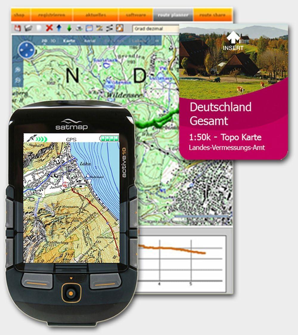 Satmap GPS-Sistema de navegación por satélite Active 10 Incluye Tarjeta SD de Alemania Total, 1:50 000.: Amazon.es: Deportes y aire libre