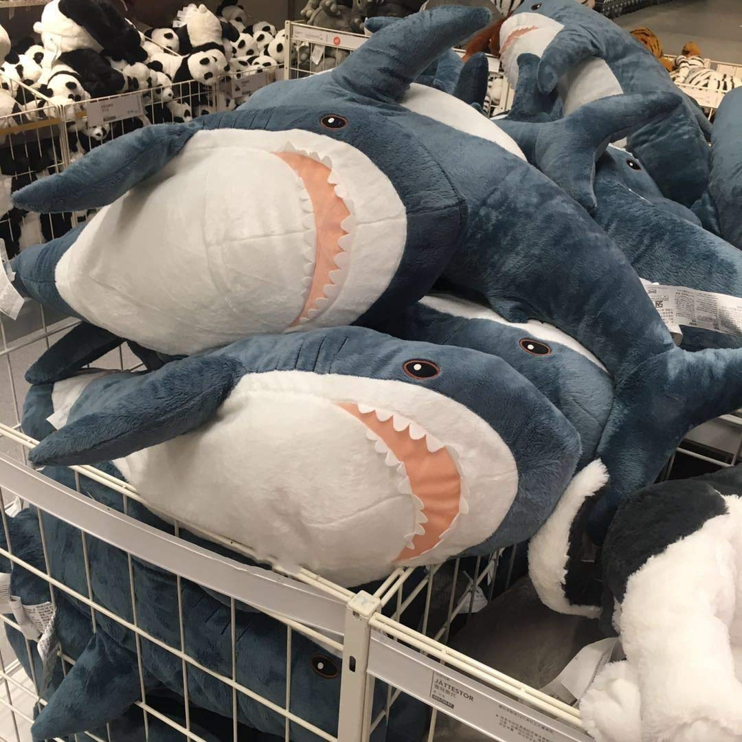 Shark Plush Toy Ular Sleeping Pillow Travel Companion Toy Gift Cute Stuffed Animal Shark Fish Pillow Toys For Children New Must Haves 6 Year Old Boy Gifts The Favourite Superhero Cupcake Toppers by EXTOY