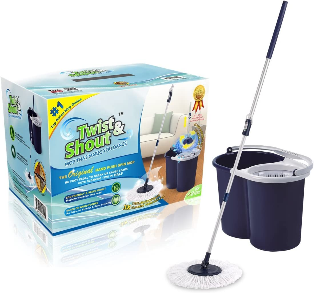 Twist and Shout Original Hand Push Spin Mop