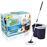 Twist and Shout Mop - The Original Hand Push Spin Mop - Life Time Warranty - 2 Microfiber Mop Heads Included