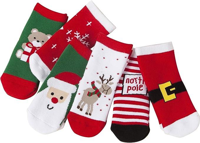 vanberfia Unisex Baby 6pairs Baby Kids Cartoon Christmas Holiday Toddler Children's Socks (S/0-1years, BXB070)