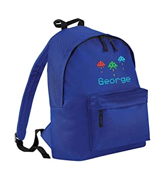 Mochila personalizada para niños y estudiantes, con logo de videojuego de Arcade Negro azul real: Amazon.es: Equipaje