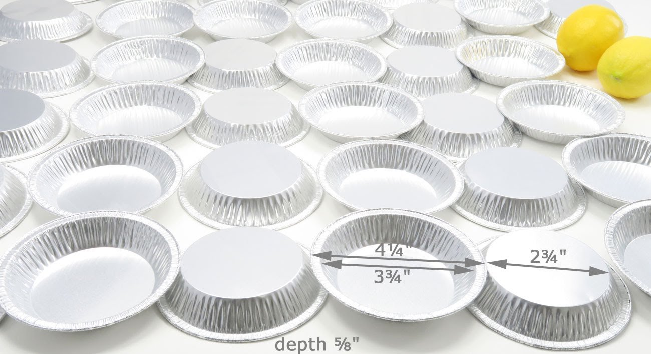 4 1/4 '' Aluminum Disposable Tart Pan #416 (50)