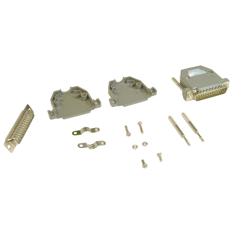 DB25 razonamiento conector macho y capucha de plástico/carcasa: Amazon.es: Electrónica