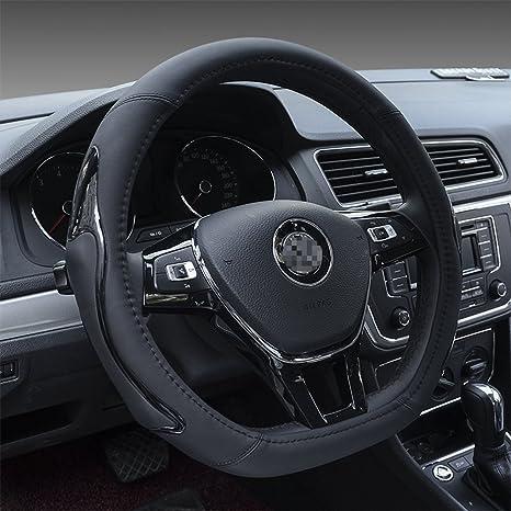 JANRON-Steeringwheelcover D-Typ Lenkradbezug Leder Innennaht Sport ...
