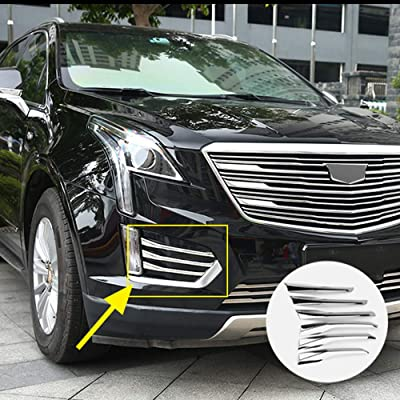 6Pcs Chrome Front Fog Light Moulding Side Air Vent Cover Trims Fit for Cadillac XT5 2020 2020 2020 Car Exterior Accessories: Automotive