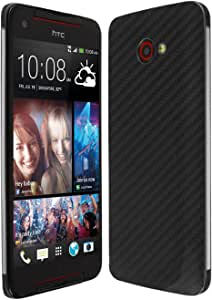 Skinomi Black Carbon Fiber Full Body Skin Compatible with HTC Butterfly S (Full Coverage) TechSkin with Anti-Bubble Clear Film Screen Protector
