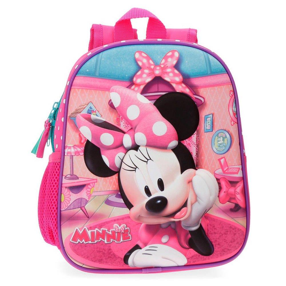 Disney Minnie Smile Mochila infantil, 25 cm, 5.25 litros, Rosa