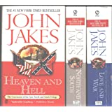 "John Jakes 3 Book Set ""North and South"", ""Love and War"" and ""Heaven and Hell"" (North and South Trilogy)"