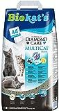 Biokat's Diamond Care Multicat Fresh Katzenstreu/Hochwertige Klumpstreu für Katzen mit Aktivkohle und Cotton Blossom Duft