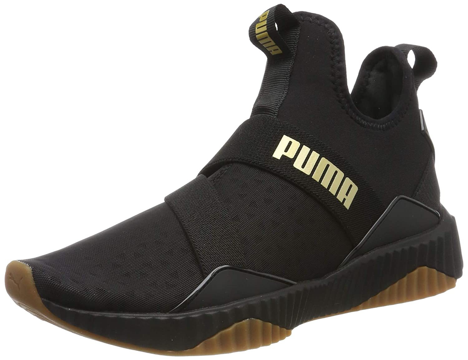 defy mid sparkle women's trainers