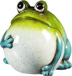 New Creative Evergreen Garden Portly Frog Ceramic Outdoor Figurine