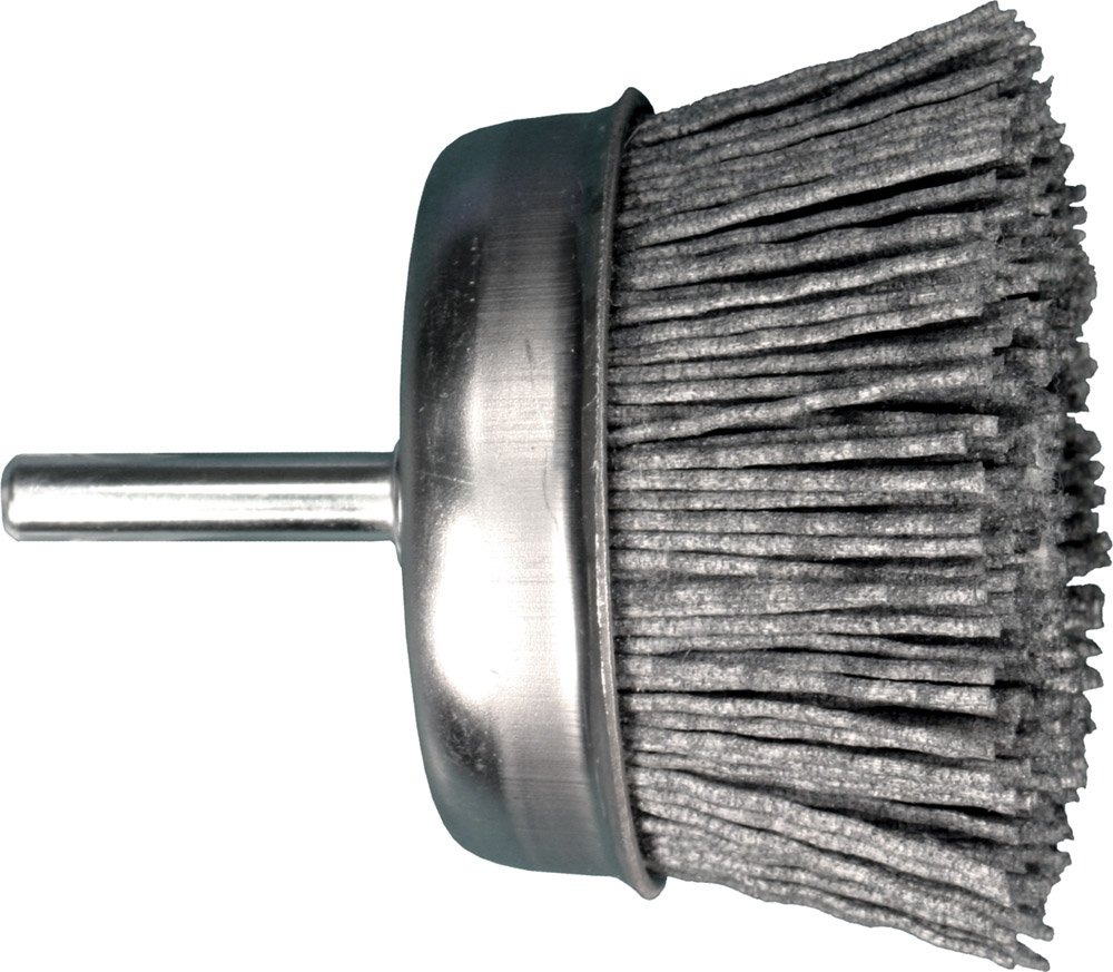 PFERD 763834 Economy Power Universal Line PS-FORTE Mounted Cup Brush Pack of 5 4500 Maximum RPM Nylon//Silicon Carbide Bristles Round Shank 3 Diameter