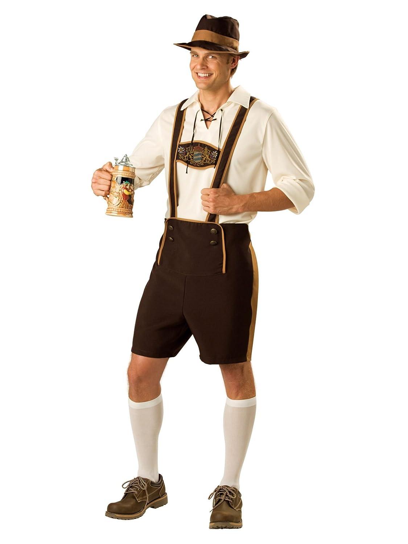 German Bavarian Mens Fancy Dress Oktoberfest German Lederhosen Adults  Costume - Medium 38 -40