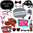 50's Sock Hop - Photo Booth Props Kit - 20 Count