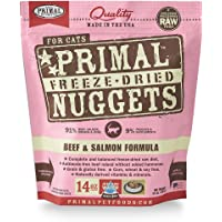 Primal Pet Food - Freeze Dried Cat Food Nuggets for Feline 14-Ounce Bag Bundle with Hotspot Pet Food Bowl - Made in USA…