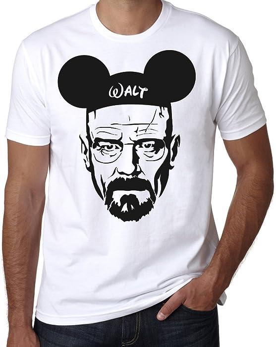 Breaking Bad 'Walt' T Shirt, Heisenberg Walt Disney Men's Women's Tee (M Male)