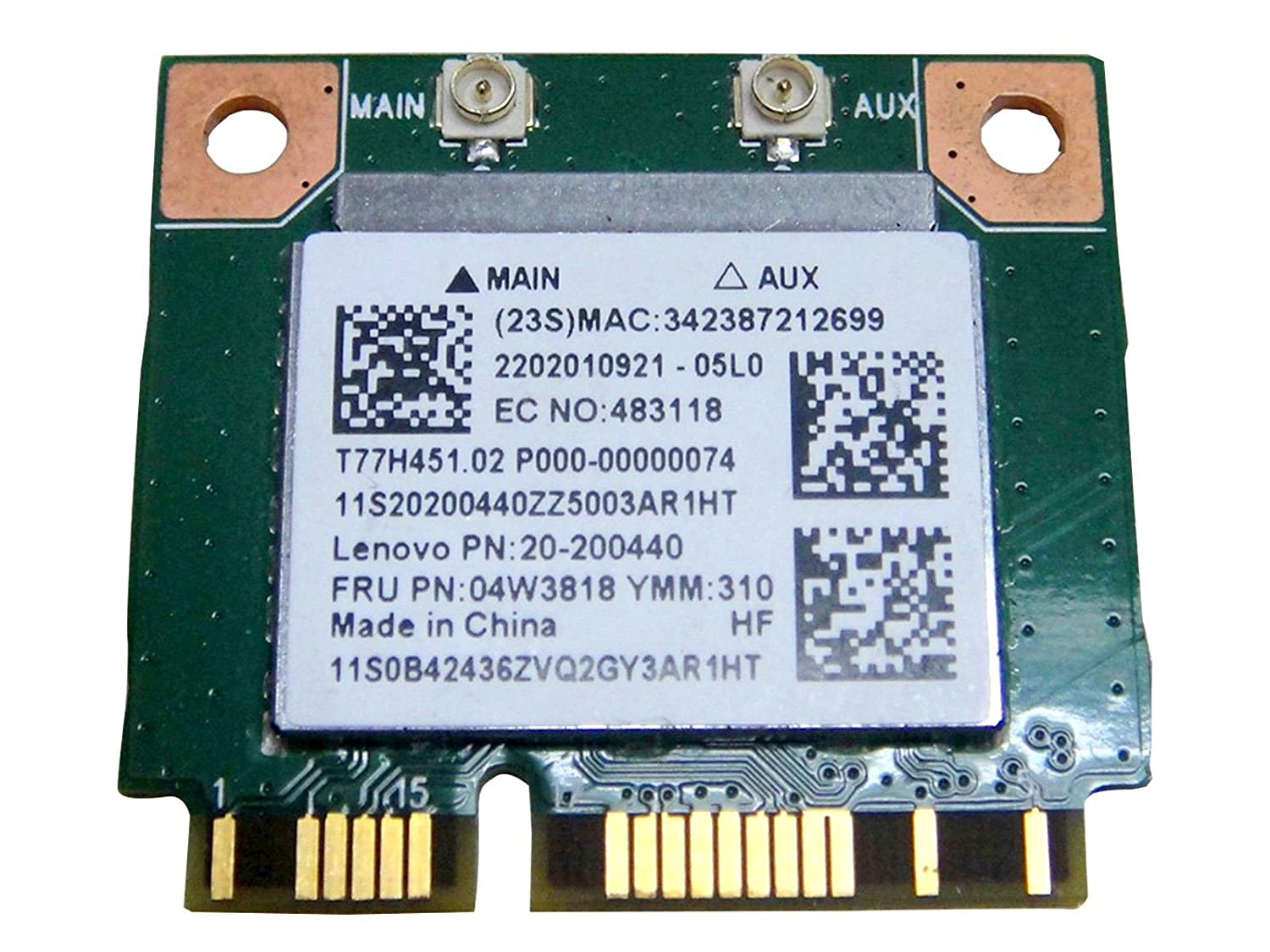 RealTek RTL8723BE Half Mini PCIe PCI-Express Wlan Wireless Wifi BT  Bluetooth Card 802 11n Replacement for IBM Lenovo Laptop 04W3818 20-200440