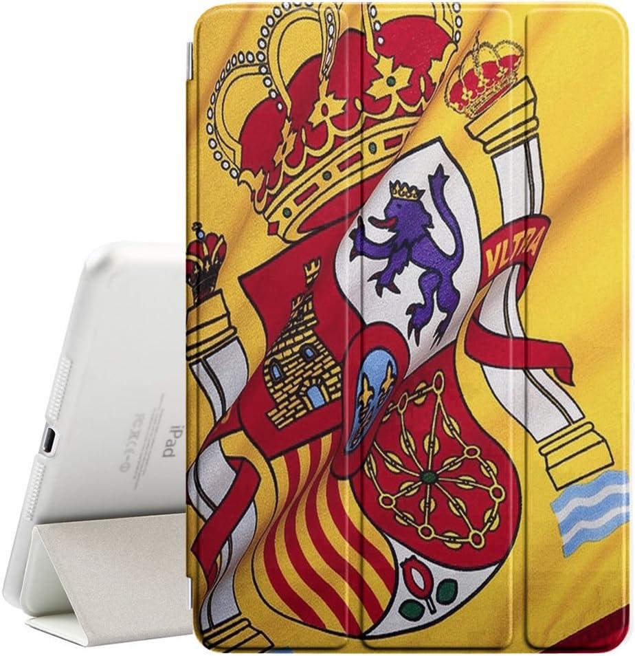 Graphic4You España bandera española Funda Carcasa con Stand Función y Imán Incorporado para el Sueño/Estela para Apple iPad Pro (9.7