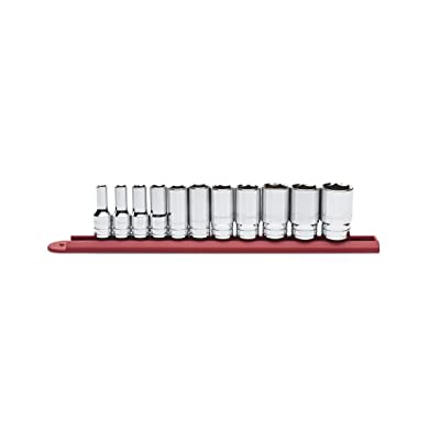 """GEARWRENCH 11 Pc. 3/8\"""" Drive 6 Point Mid Length SAE Socket Set - 80555S: Home Improvement [5Bkhe0107786]"""