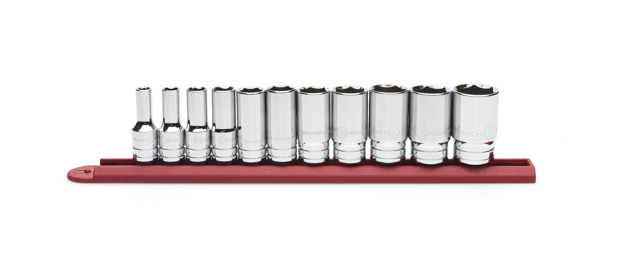 GEARWRENCH 11 Pc. 3/8'' Drive 6 Point Mid Length SAE Socket Set - 80555S by GearWrench