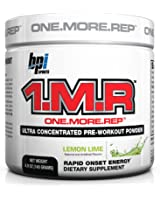 BPI Sports 1.M.R Ultra Concentrated Pre-Workout Powder, Lemon-Lime, 4.9-Ounce