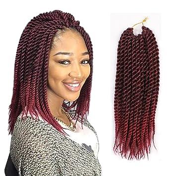 Amazoncom 8pcs 12inch 22strands Ombre Senegalese Twist Hair