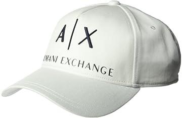 dd769e6f428 Amazon.com  Armani Exchange Men s 3D Rubber AX Tonal Logo Hat ...