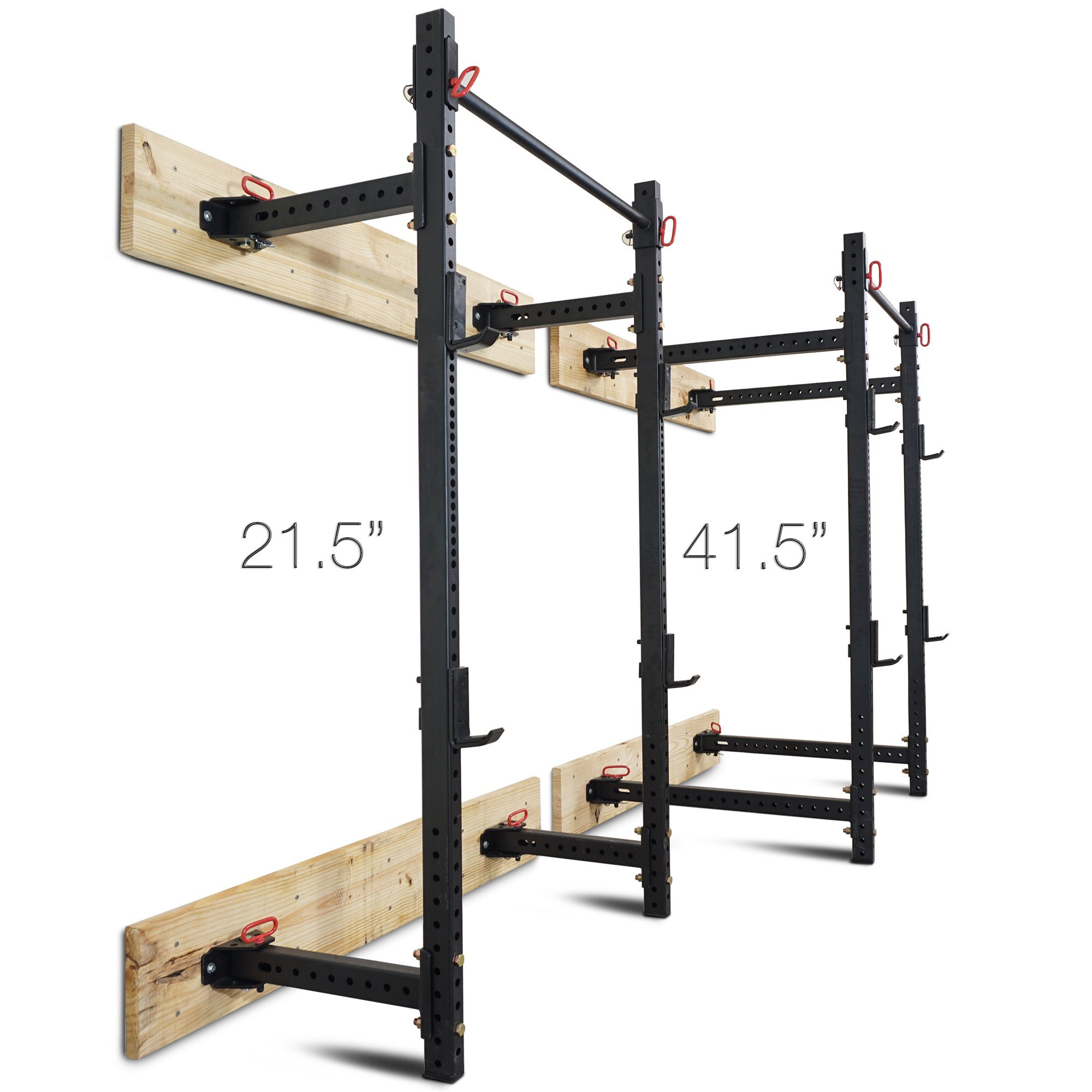 Titan Fitness T-3 Series Fold Back Power Rack 41'' Deep Wall Mounted Laser Cut by Titan Fitness (Image #8)