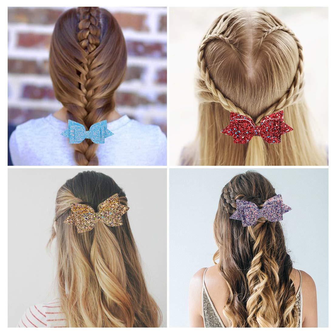 paillettes scintillantes boutique pinces /à cheveux ados partie sac remplisseurs Mwoot 6 pi/èces Cheveux Barrettes