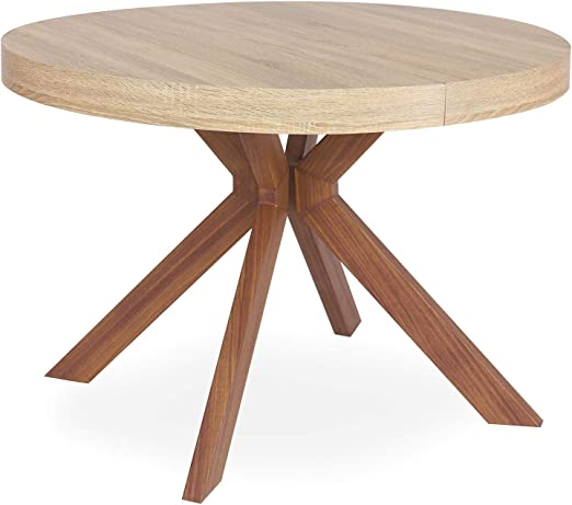 Menzzo Table A Manger Avec Pied De Table Metal Table Ronde