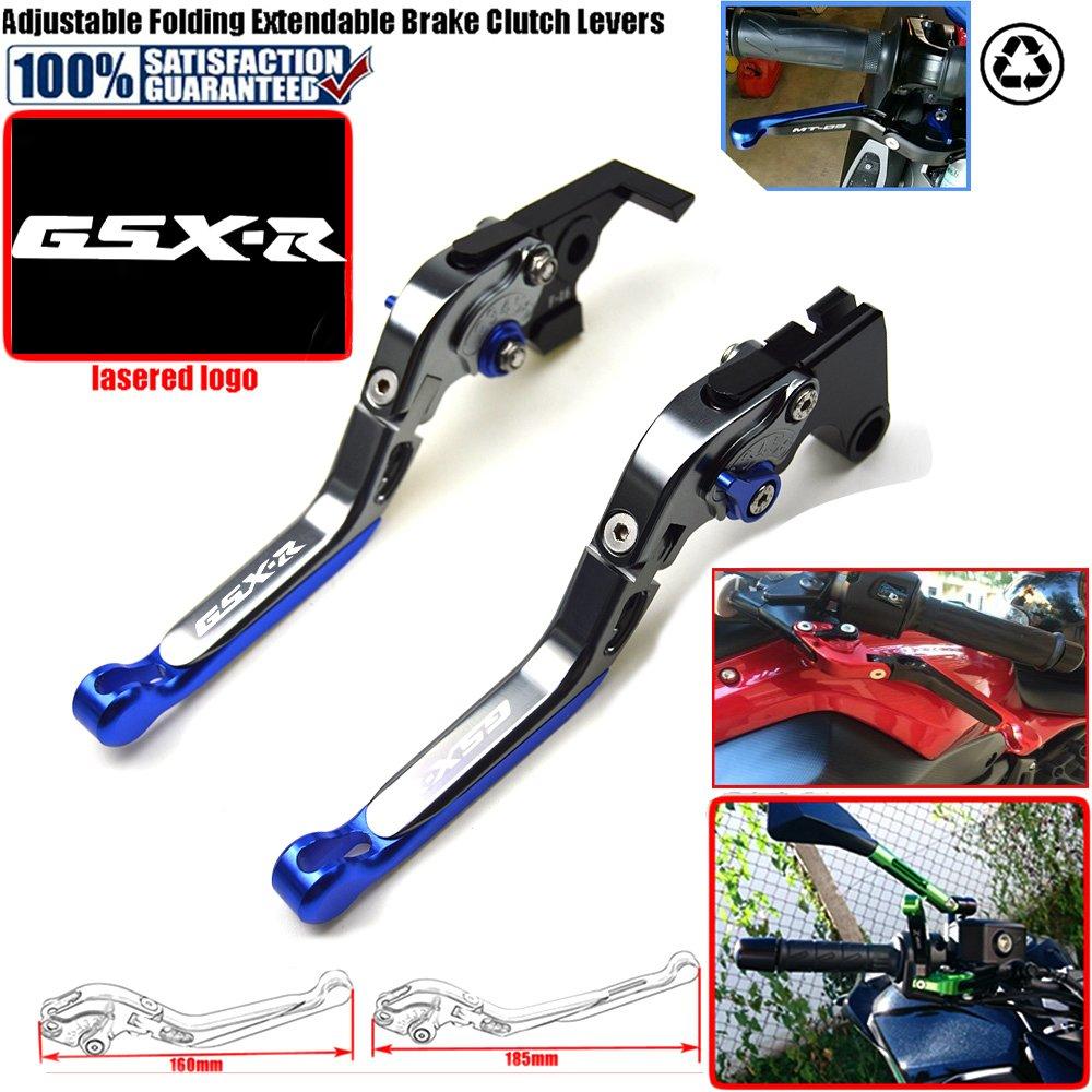 2010 2010 accessoires de moto CNC pliable extensible leviers de frein dembrayage pour Suzuki GSX-R 600 2006 GSX-R 750 2006 GSX-R 1000 2005 2006